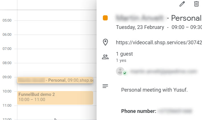calendar booking from crm